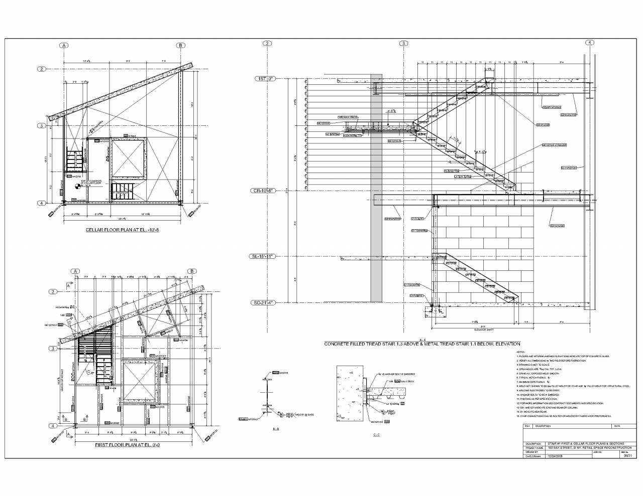 Advanced Detailing Corp  - steel Stairs shop drawings