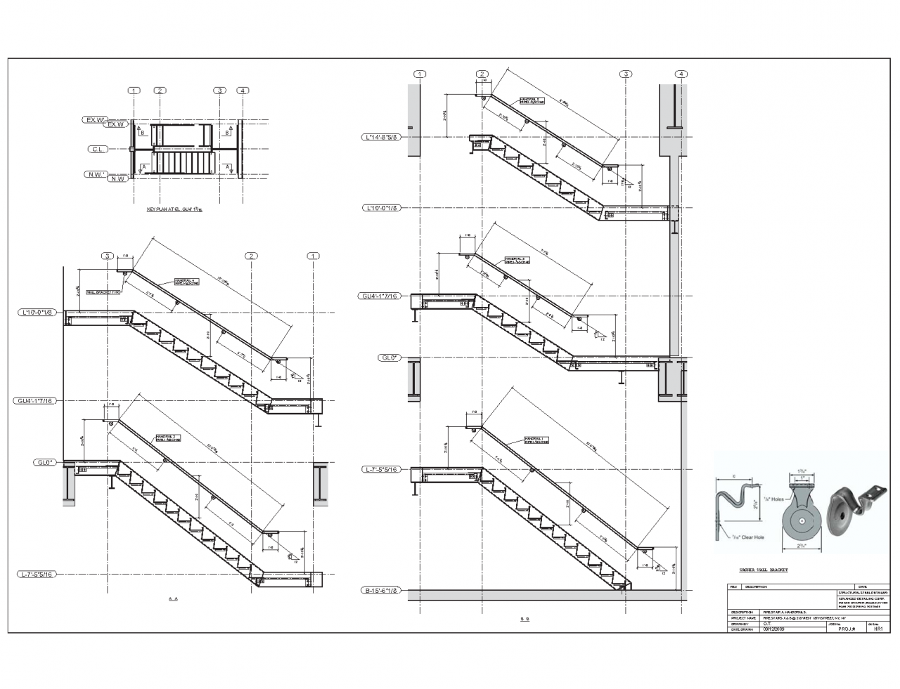 Uncategorized Staircase Detailing advanced detailing corp steel stairs shop drawings handrails staircase detailing