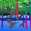 Subsellar and Sellar Floors Stairs, 3D Model.